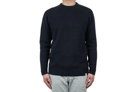 Norse Projects BIRNIR COMPACT MERINO - ELEMENTAL NAVY