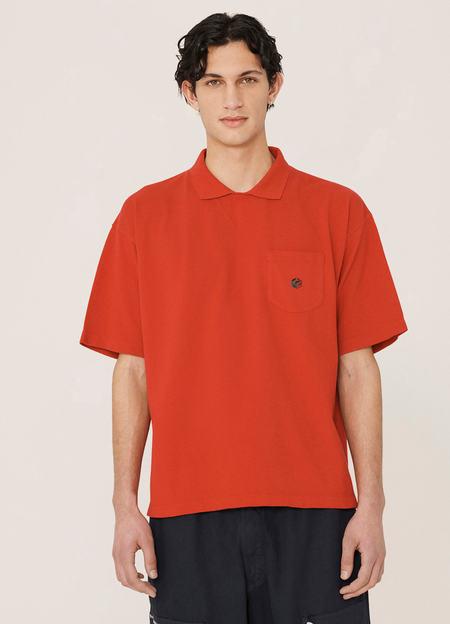 YMC Frat Organic Cotton Pique Cotton T Shirt - Red
