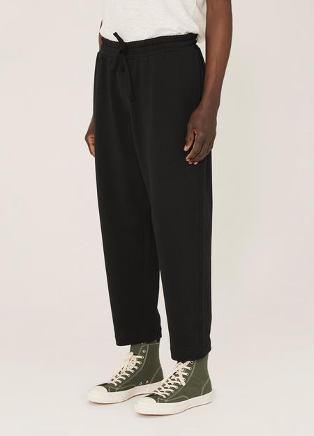 YMC Alva Organic Cotton Loopback Sweat Trousers - Black