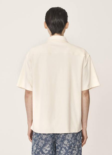 YMC Screech Organic Cotton Towelling Shirt - Ecru