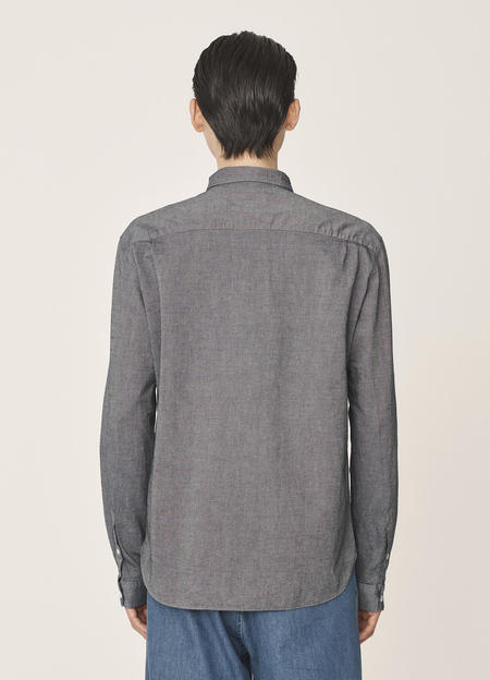 YMC Curtis Cotton Selvedge Chambray Shirt - Indigo Rinse