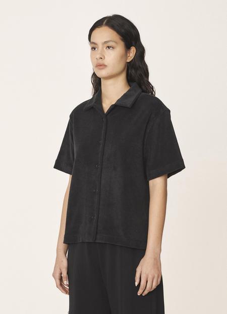 YMC Vegas Organic Cotton Towelling Shirt - Black