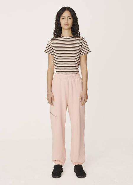 YMC Wenlock Organic Loopback Cotton Sweat Pants - Pink