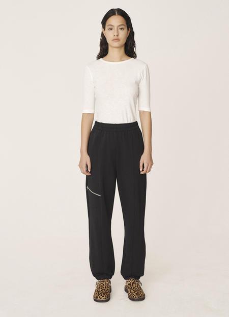 YMC Wenlock Organic Loopback Cotton Sweat Pants - Black