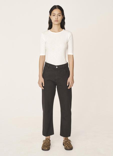 YMC Geanie Organic Cotton Twill Jeans - Black