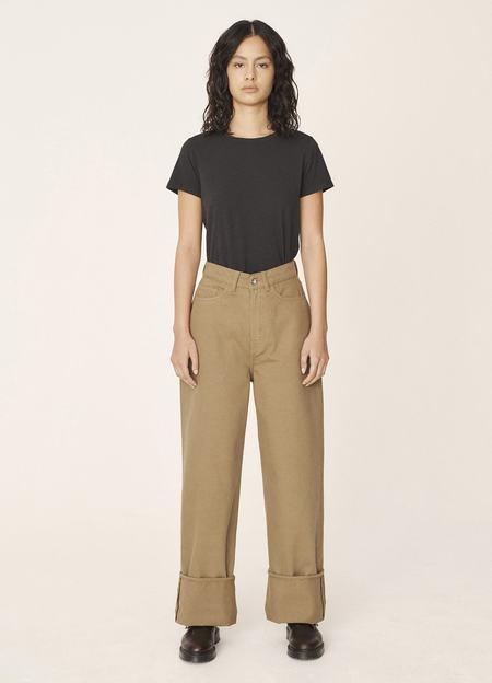 YMC Papa Organic Cotton Twill Jeans - Camel