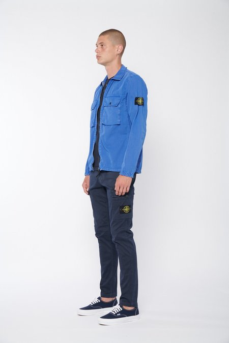 Stone Island Zipper Overshirt - Blue
