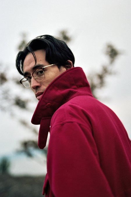 Engineered Garments Polyester Fake Melton Cruiser Jacket - Red