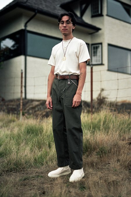 Engineered Garments Heavyweight Cotton Ripstop Fatigue Pant - Olive
