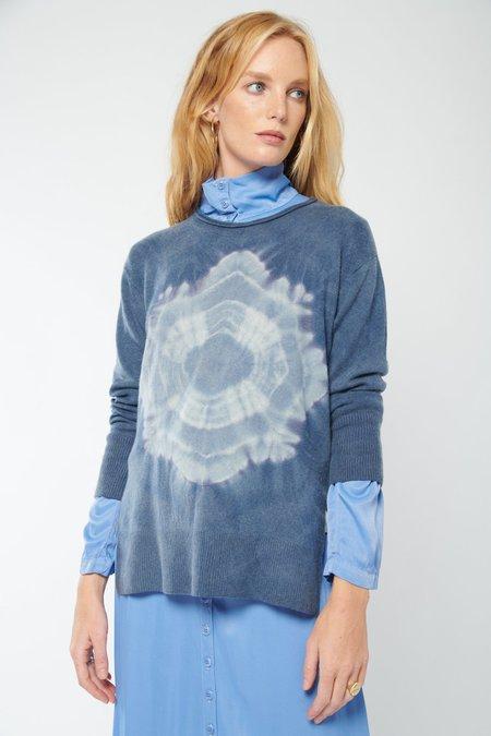 Raquel Allegra Boyfriend Crewneck Sweater - Navy Portal