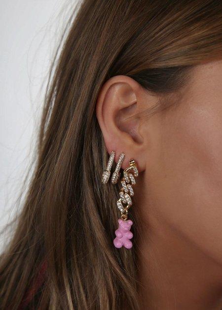 Nostalgia Bear Earring Single - Candy Pink
