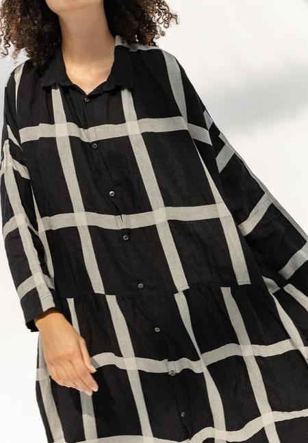 ICHI ANTIQUITES LATTICE CHECK DRESS