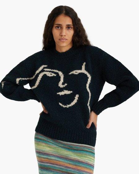 unisex Paloma Wool PALOMA WOOL Anita Sweater - Granite/Dark Green