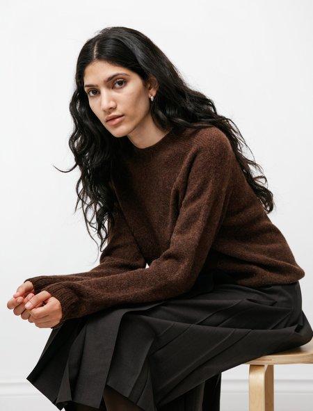 Neighbour Shetland Sweater - Coffee