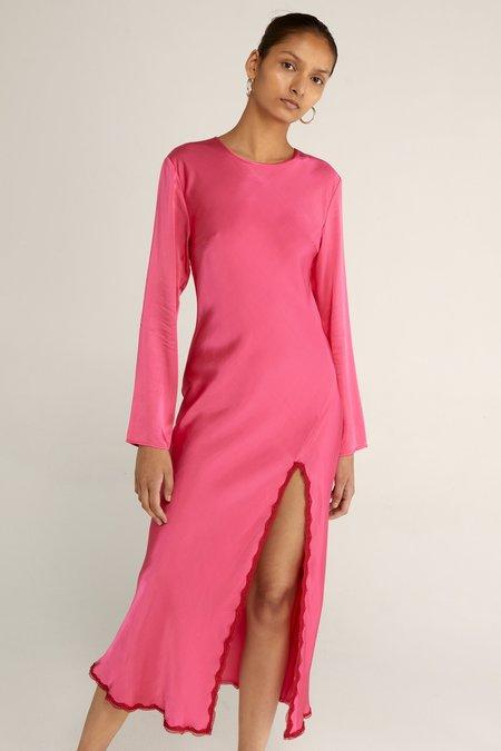 Third Form Last Dance Bias Maxi Dress - Magenta