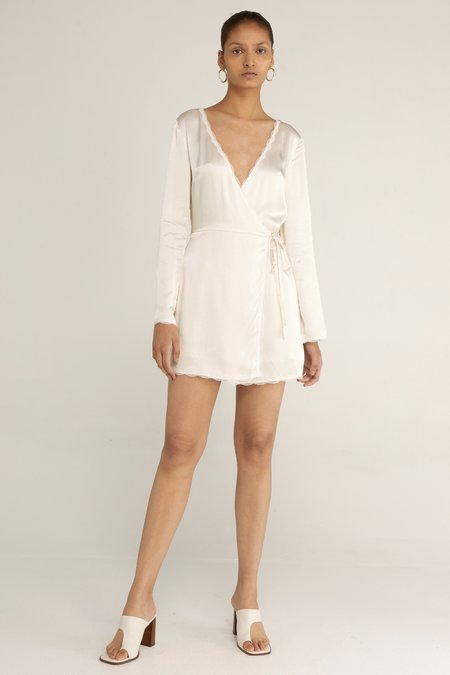 Third Form Last Dance Wrap Dress - Cream