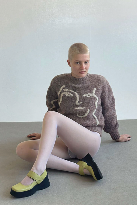 Paloma Wool Wink Anita Sweater - Mid Grey