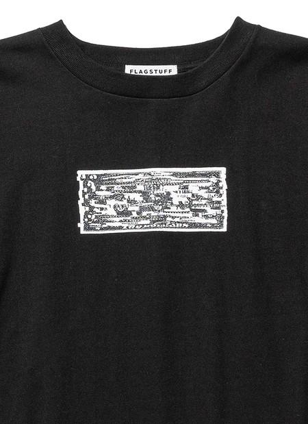 FLAGSTUFF x KOSUKE KAWAMURA 2 Doller Bill COLLAGE T-Shirt - Black