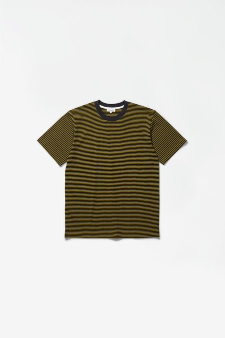 Norse Projects Johannes college stripes T-Shirt - battleship grey