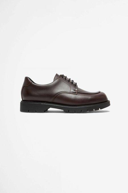 Kleman Officier leather derby shoes - burgundy