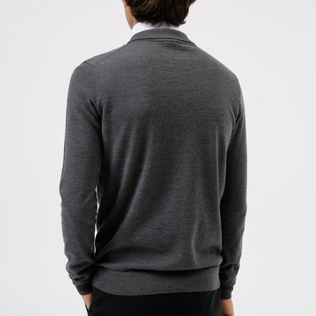 Hugo Boss San Pepe Knitted Polo - Grey