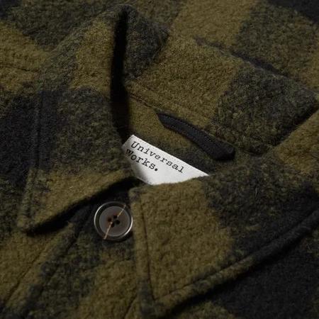 Universal Works Check Wool Fleece Lamber Jacket
