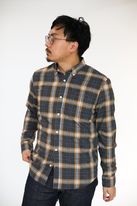 MATINIQUE Trostol Flannel Shirt - Buckthorn Yellow