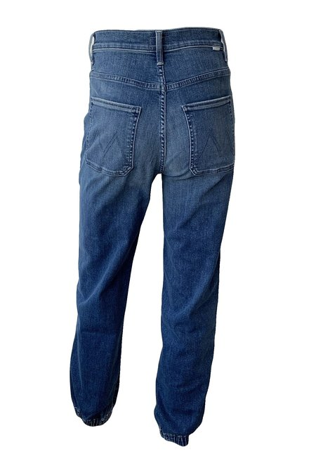 Mother Denim Wrapper Patch Springy Ankle Jeans - Wish On A Star