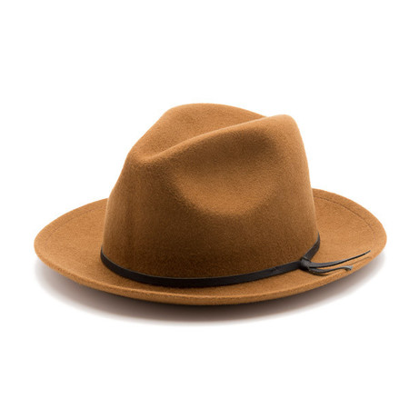 Unisex Yellow108 Luke Fedora in Carmel