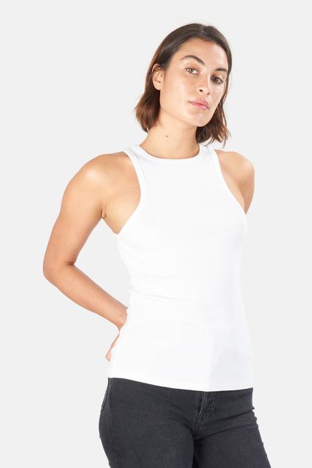 Women's AGOLDE Rib Tank Top - White