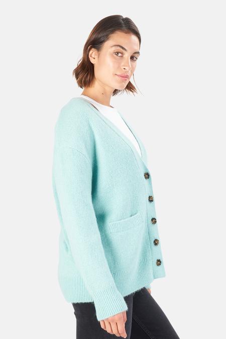 Women's Re/Done 90s Oversized Cardigan Sweater - Spearmint
