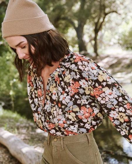 The Great. The Forage Top - Meadow Floral