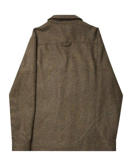 Portuguese Flannel WOOL FIELD TOP - GREEN