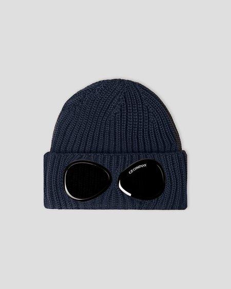CP company Extra Fine Merino Wool Goggle Beanie - Black