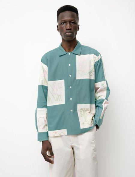 unisex BODE Botanical LS Shirt - Patchwork