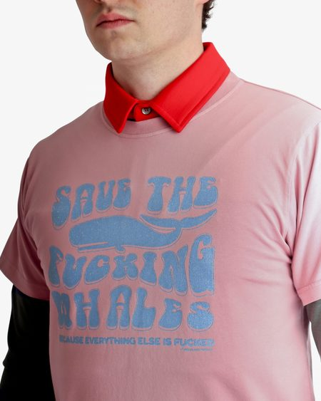 PHIPPS Save The Fucking Whales Tee - PINK