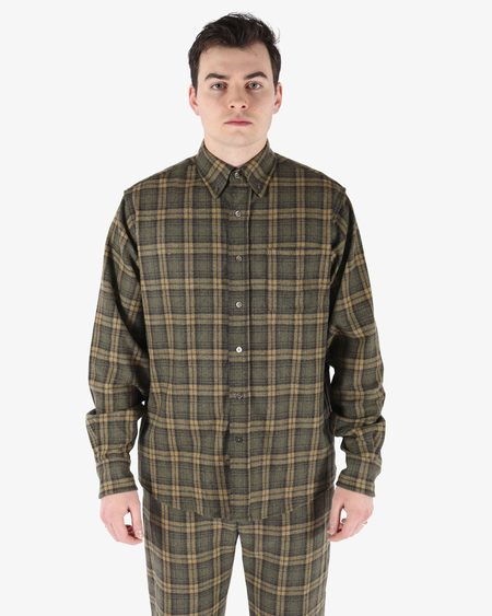 MNZ Foundation Button Down top - Basil