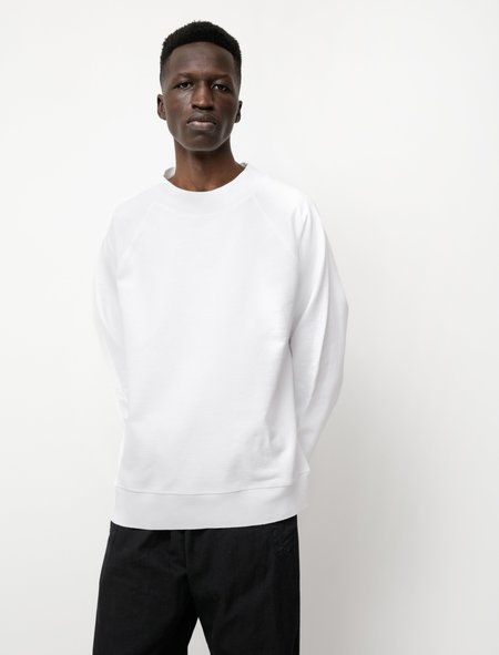 Margaret Howell MHL Dry Loopback Jersey Sweatshirt - White