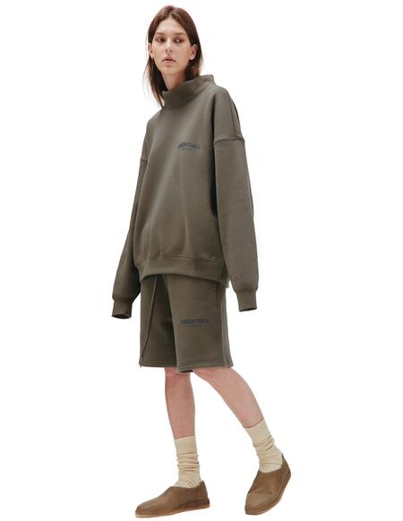 Fear of God Essentials Cotton Pullover Mockneck sweater - brown