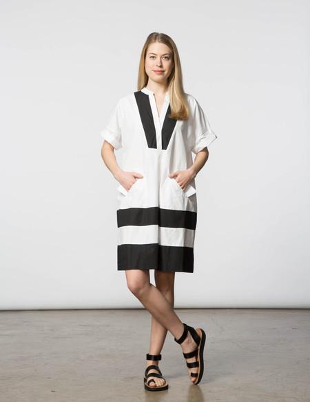 SBJ Austin Cindy Dress - White & Black
