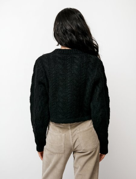 Our Legacy Intact Knit Fuzzy Soot sweater - Black