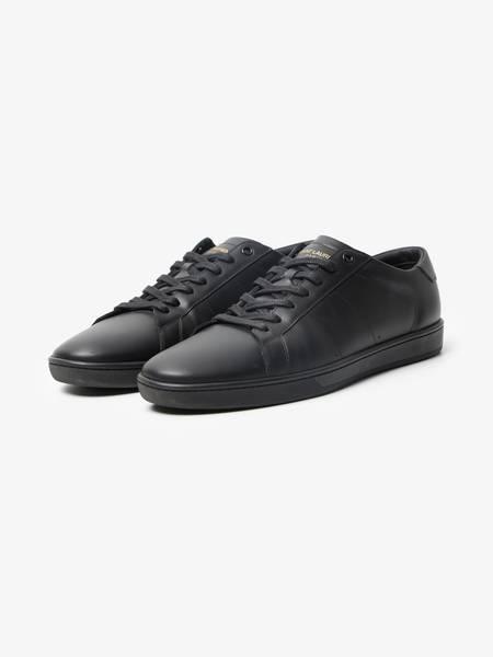 Saint Laurent Paris Male Low Top Sneakers Pre-Loved-Black