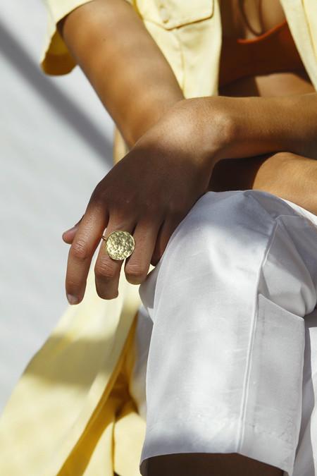 Young Frankk Circle Hammered Ring