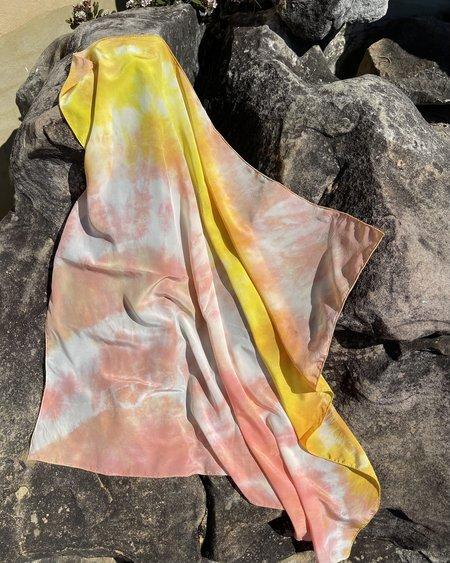 FIELD TIE DYE scarf -  Peach