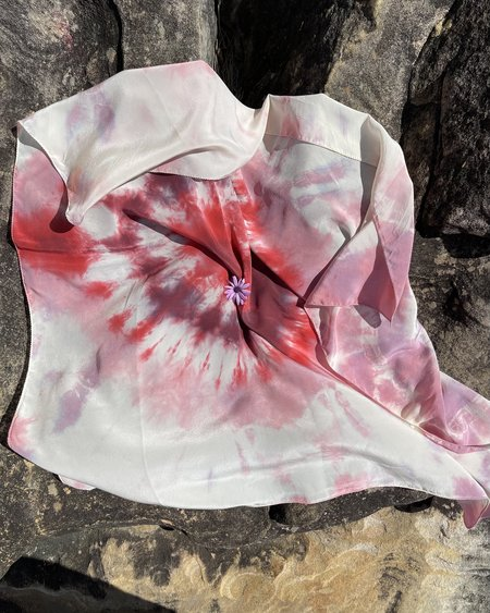 FIELD TIE DYE scarf  -  summer cherry