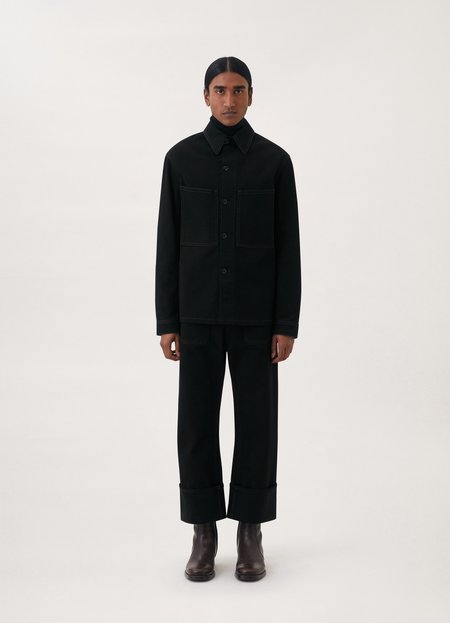 Lemaire Denim overshirt - Black