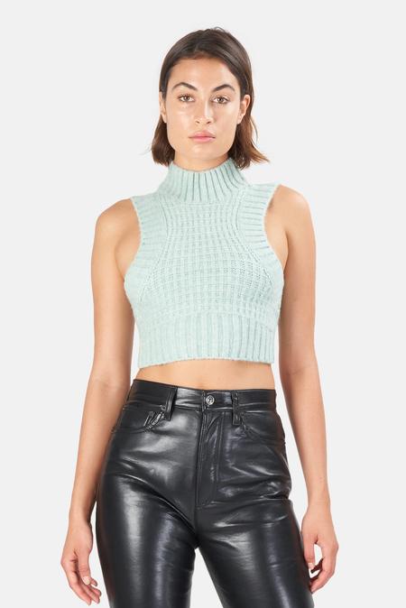 Women's For Love & Lemons Dominique Crop Tank Sweater Top - Green