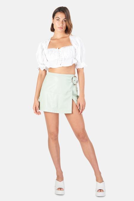 Women's For Love & Lemons Carey Crop Top - White