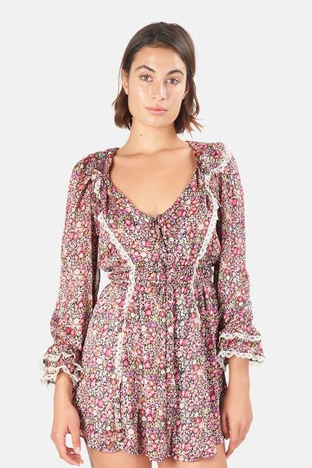 Women's For Love & Lemons Grace Mini Dress - Multi