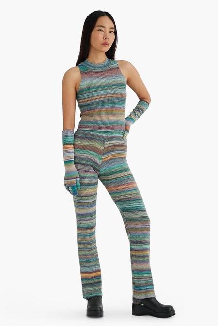 Paloma Wool Olinda Ribbed Knit Sleeveless Top - Kiwi Green